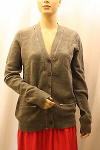 NEW-BCBG-MAX-AZRIA-WOOL-ZIP-UP-RIBBED-BUTTON-UP-SWEATHER-KKG4C386-B430-SZ-S