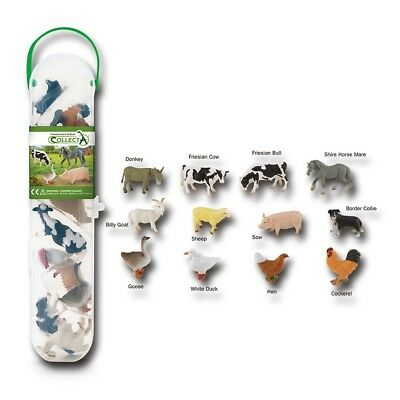 Animals & Dinosaurs Collecta A1110 Mini Farm Animal Box Tubos Tubes Farm Animal Novelty 2018 Suitable For Men And Women Of All Ages In All Seasons