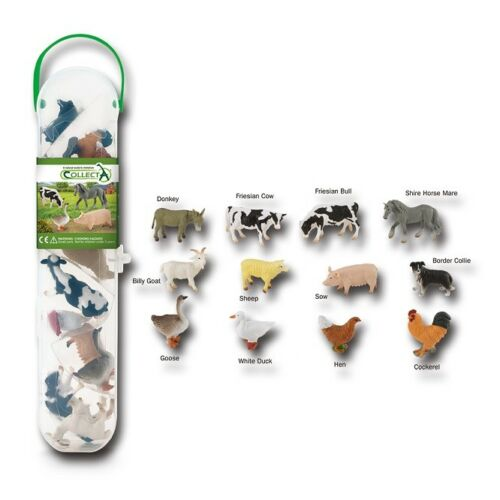 Collecta a1110 MINI FATTORIA ANIMALI BOX tubos-TUBI Fattoria Animali Novità 2018