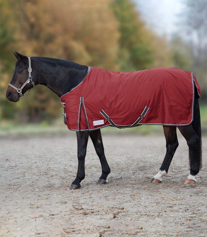 Outdoordecke 300g riempimento Economic WALDHAUSEN Horse Horse Horse moda Rosso rubinoasfalto NUOVO 8fa