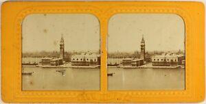 Italia-Venezia-Panorama-c1865-Foto-Stereo-Diorama-Vintage-Albumina