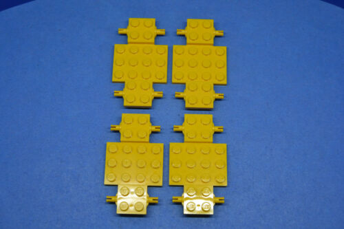 LEGO 4 x Fahrgestell 4x7x 2//3 Auto LKW Unterbau Platte gelb yellow chassis 2441