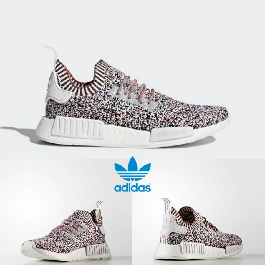 a4d71681dc698 Adidas Original NMD R1 PK Rainbow Boost Sneakers Shoes Multicolor BW1126 SZ  4-11