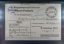 Camp Stalag XIIF Forbach 1942 POW Prisoner of War Kriegsgefangenenpost K9b