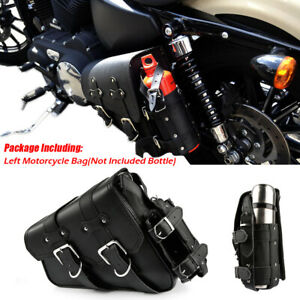 Motorrad-Satteltasche-Werkzeugtasche-Links-Flaschenhalter-Fuer-Harley-Sportster