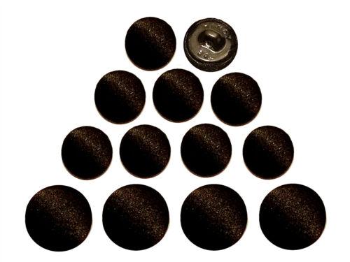 12 pcs Black Silk Satin Tuxedo Bridal Buttons Suit Jacket Cuff Sleeve Buttons