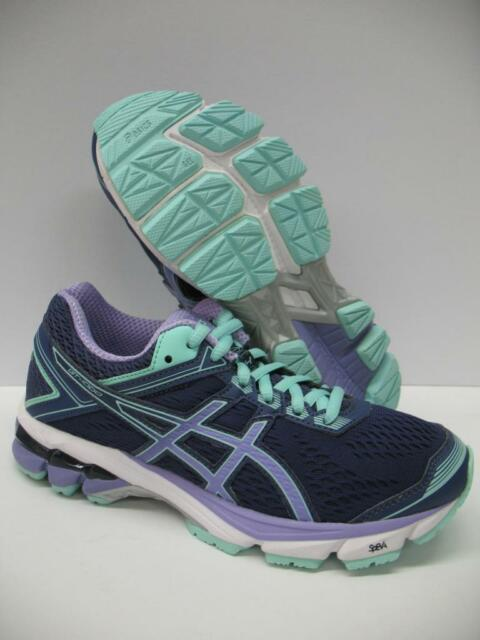 Asics T5A7N GT 1000 4 Running Training Shoes Sneakers Blue Purple Girls Womens