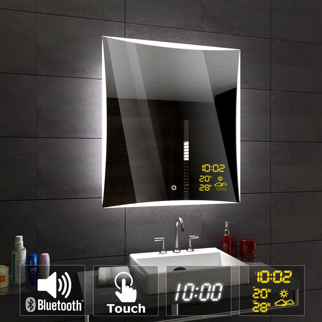 Lisbona miroirs de sale bain avec éclairage LED MURAL bleutooth accessoires