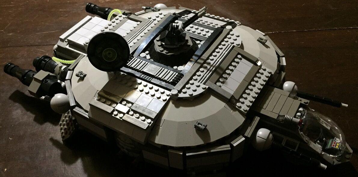 Personalizado Lego Star Wars Rebel Corvette con el capitán y tripulación