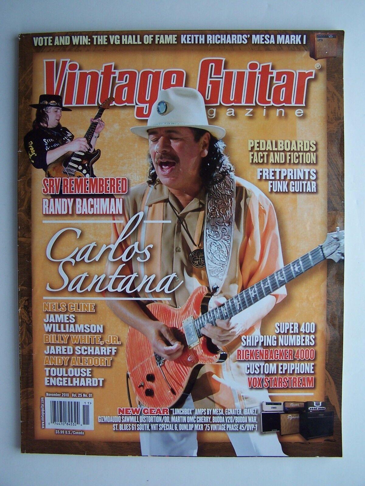 Vintage Guitar Magazine November 2010 Vol 25 No 11 Carl