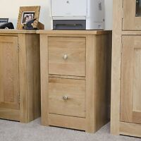 Vermont solid oak furniture two drawer office filing cabinet