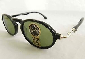 0db2c9ea41fbf Vintage B L Ray Ban Gatsby Deluxe DLX Style 1 Black Green Oval W1525 ...