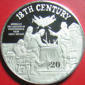 1997-COOK-ISLANDS-20-SILVER-PROOF-DECLARATION-OF-INDEPENDENCE-SIGNING-SCENE-RRR