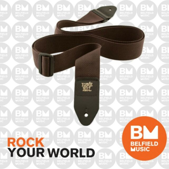 Ernie Ball 4052 Polypro Guitar Strap Super Long Forest Brown Adjustable