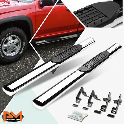 Running Boards 04-12 Colorado Canyon Extended Cab Side Step Bar Chrome Aluminum