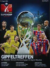 Programm Supercup 2014 Borussia Dortmund - Bayern München