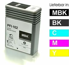 Patrone für Canon iPF510 iPF605 iPF610 iPF655 iPF710 iPF750 / PFI-102Y YELLOW