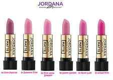 6 pcs Jordana Matte Lipstick Pink BAbydoll Rose MADE USA  J4 (FREE GLOBAL SHIP)
