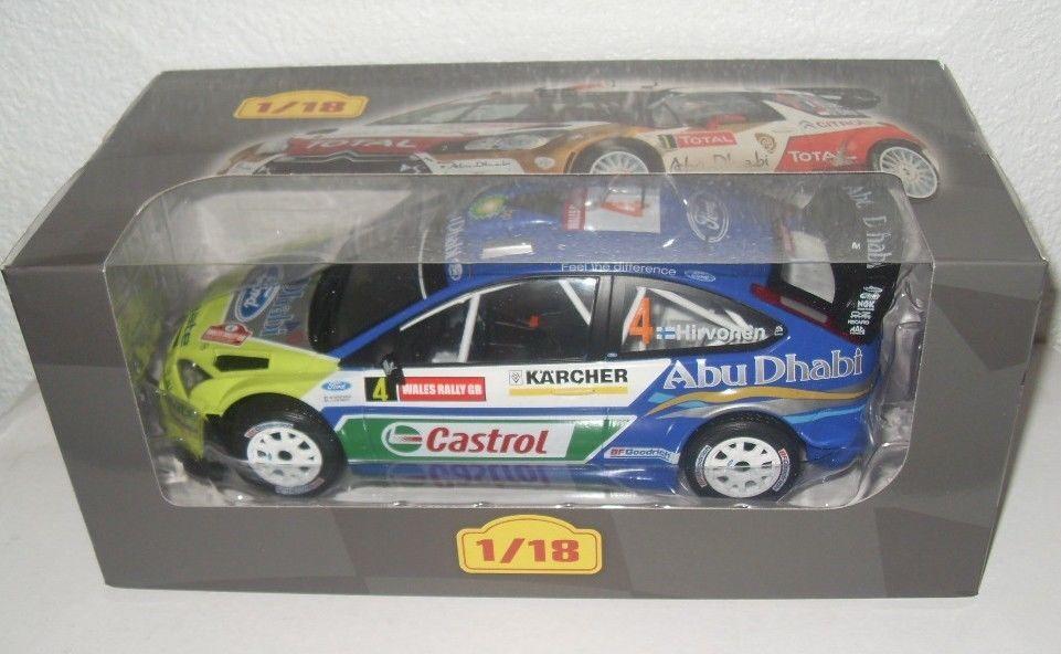 FORD Focus RS WRC - 2007-M. Hirvonen scala 1 18 Auto da Rally modello ALTAYA