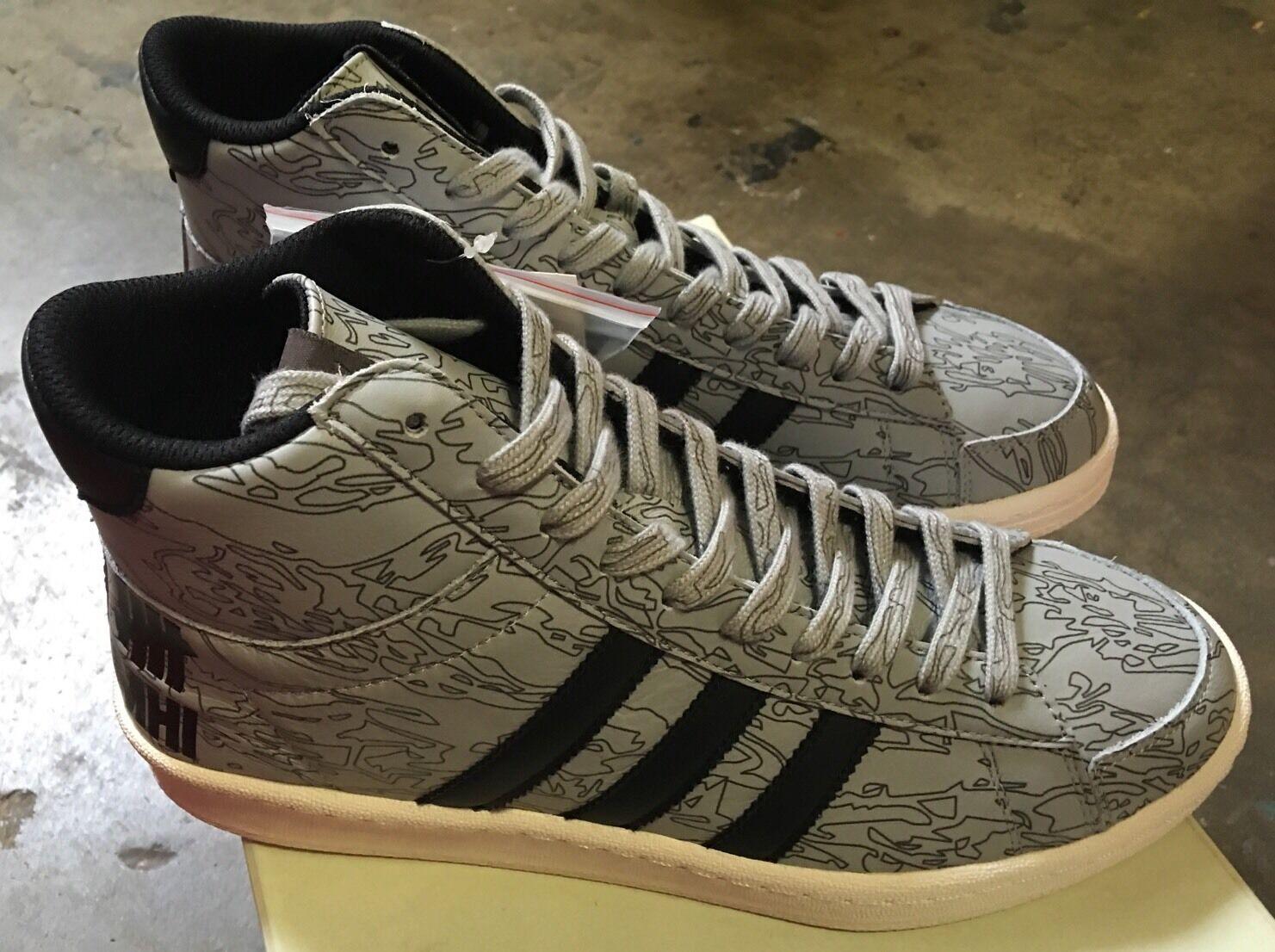 Adidas Undefeated X MHI Jabbar Mid Black White Orange Sz 4.5 NIB B33982 Undftd