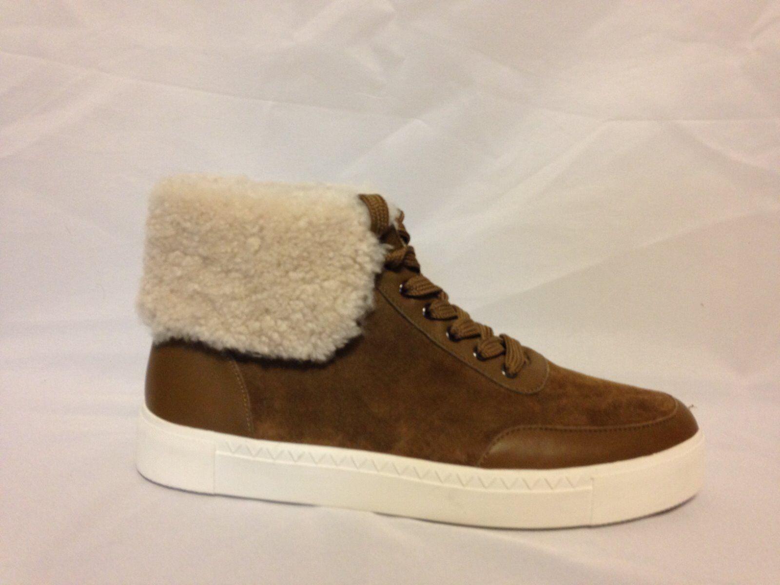 Via Spiga Maia Shearling Cuff Sneaker Sneaker Sneaker Rattan Napa Suede  New with Box 70f167