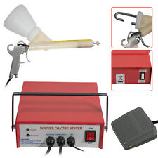 110v Professional Portable Powder Coating System Paint Gun Coat Pc03 5 Red Usa