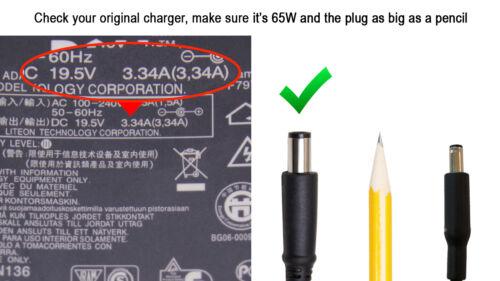 Genuine DELL Latitude E4200 E4300 E4310 E5400 E6500 E6400 AC Charger Adapter