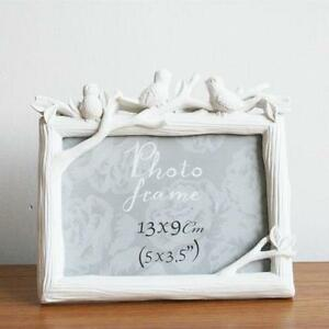 White-Bird-Tree-Branch-Home-Decor-Photo-Frame-Picture-Frame-Resin-3-5-039-039-x-5-039-039