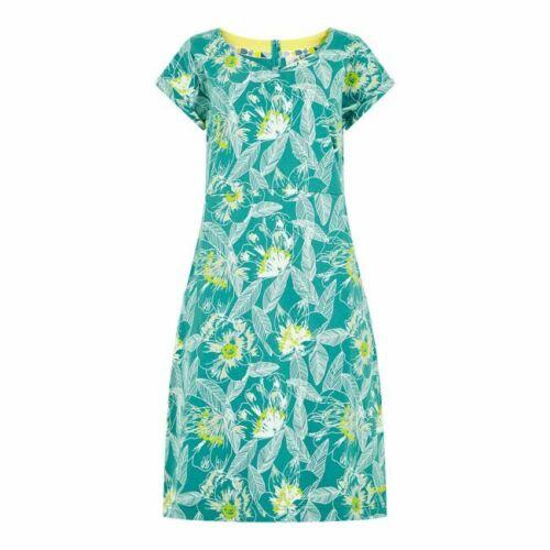 Weird Fish Biscayne Printed Cotton Jersey Summer Dress Turq floral sizes 8-22