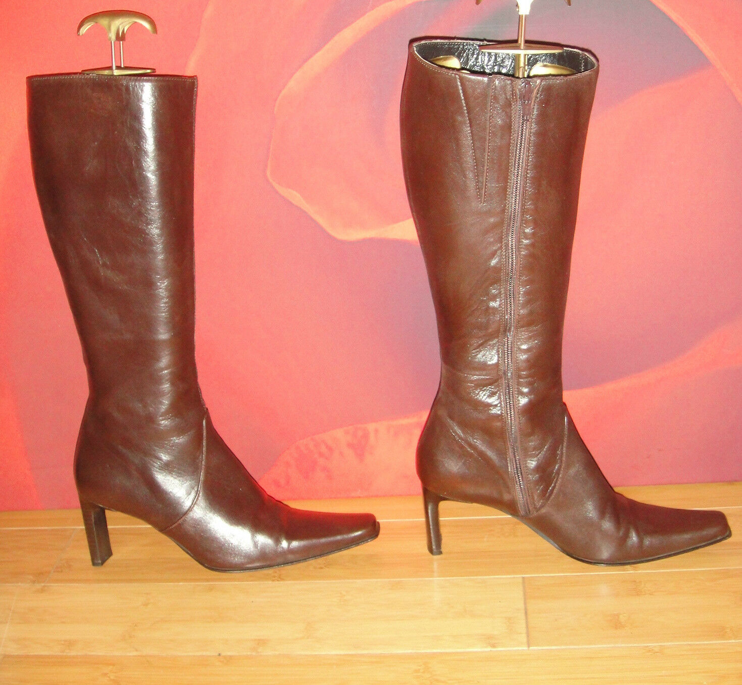 Sexy LEA FOSCATI italian brown leather  boots UK 5 EU 38.  *36*