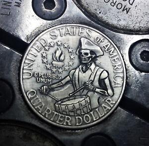 Coalburn  Hobo Nickel Love token OHNS  Eisenhower dollar skull