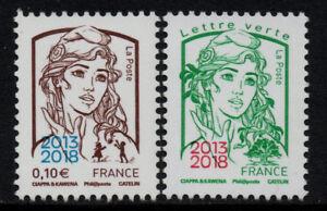 PAIRE-TIMBRES-5234-5235-NEUFS-XX-LUXE-MARIANNE-DE-LA-JEUNESSE-SURCHARGES