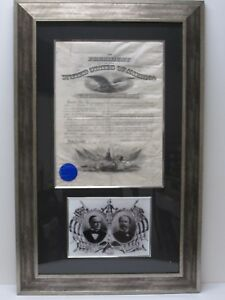 POTUS WILLIAM McKINLEY & RUSSELL ALGER Signed Matted Framed Document w/ PAAS CoA