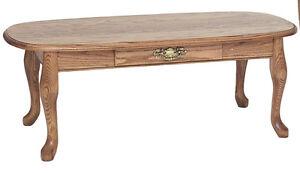 #6565 Solid Oak Queen Anne  Coffee Table