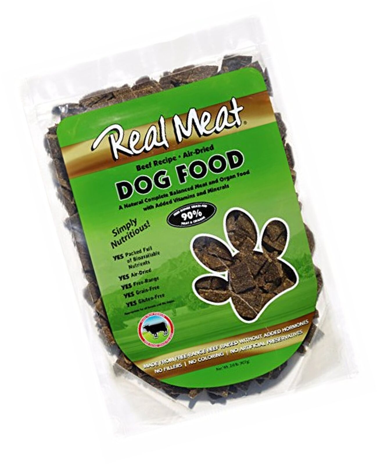 Real Meat Air Dried Beef Pet Treat, 2 lb Free Shipping