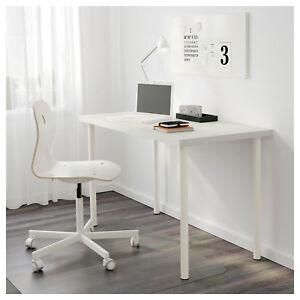 Tavolo Scrivania Ikea.Dettagli Su Ikea Linnmon Adils Tavolo Effetto Bianco Scrivania 120x60 Cm