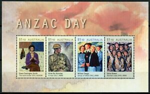 Australia Military Stamps 2020 MNH Anzac Day WWI WW1 WWII WW2 Art 4v M/S