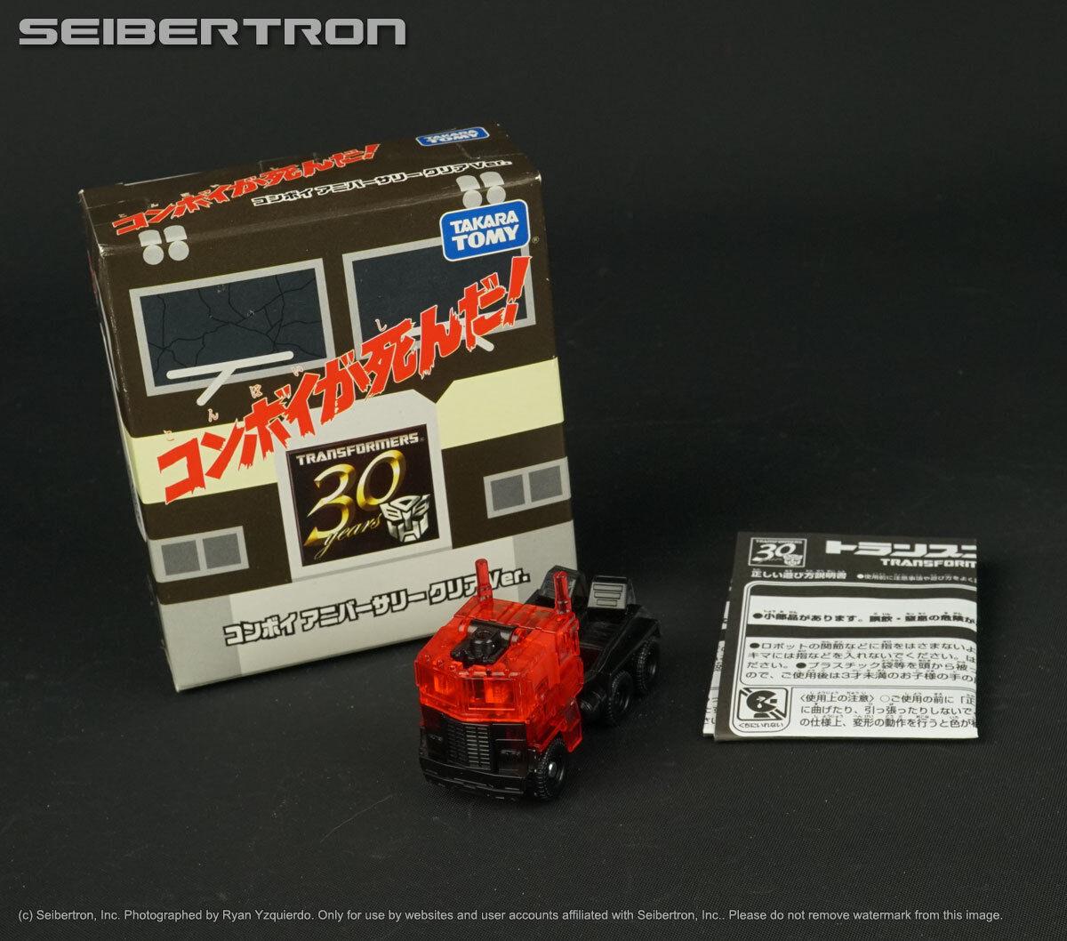 CONVOY Clear Ver Transformers 30th Anniversary EZ Lost Age Optimus Prime + box