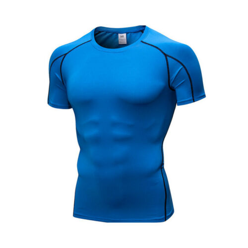 Men/'s Compression Thermal Skin Base Layer Top Short Sleeve Sport Gym T-Shirt Tee