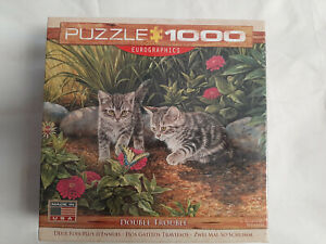 DOUBLE Trouble Gattino Puzzle 1000 PEZZI-Eurographics