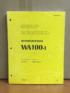 Komatsu wa100 1 wheel loader shop service repair manual ebay image is loading komatsu wa100 1 wheel loader shop service repair sciox Gallery