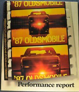 1987 Oldsmobile Calais Firenza 28-page Original Sales Brochure Catalog GT