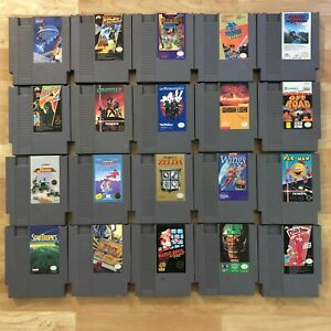 Lot of 20 Nintendo Entertainment System NES Games | Great Condition | Used | V02