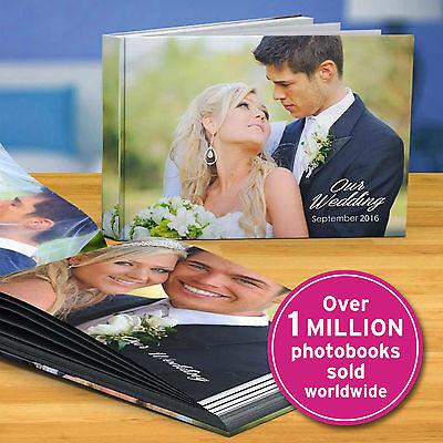 A4 LEATHER Personalised PHOTO BOOK Scrapbook Album CUSTOM YOUR Images Memories