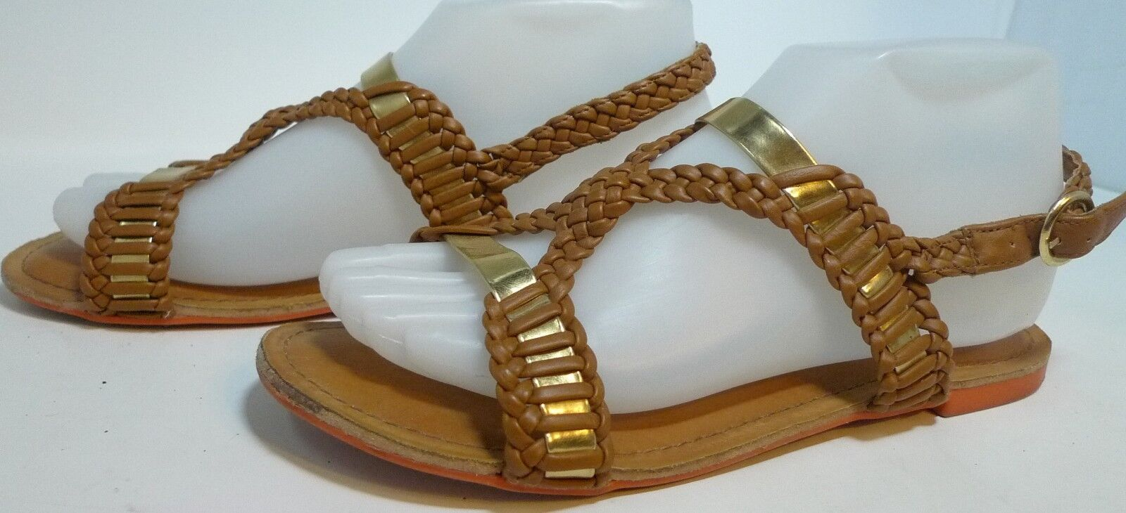 Not Rated Size Womens Sandal Shoe Brown Gold Slingback US Size Rated 7 M NRW1628-251 da8ee0
