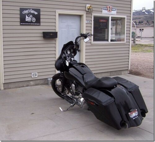 "Harley touring rear extended 4/"" bagger overlay fender street glide road king"