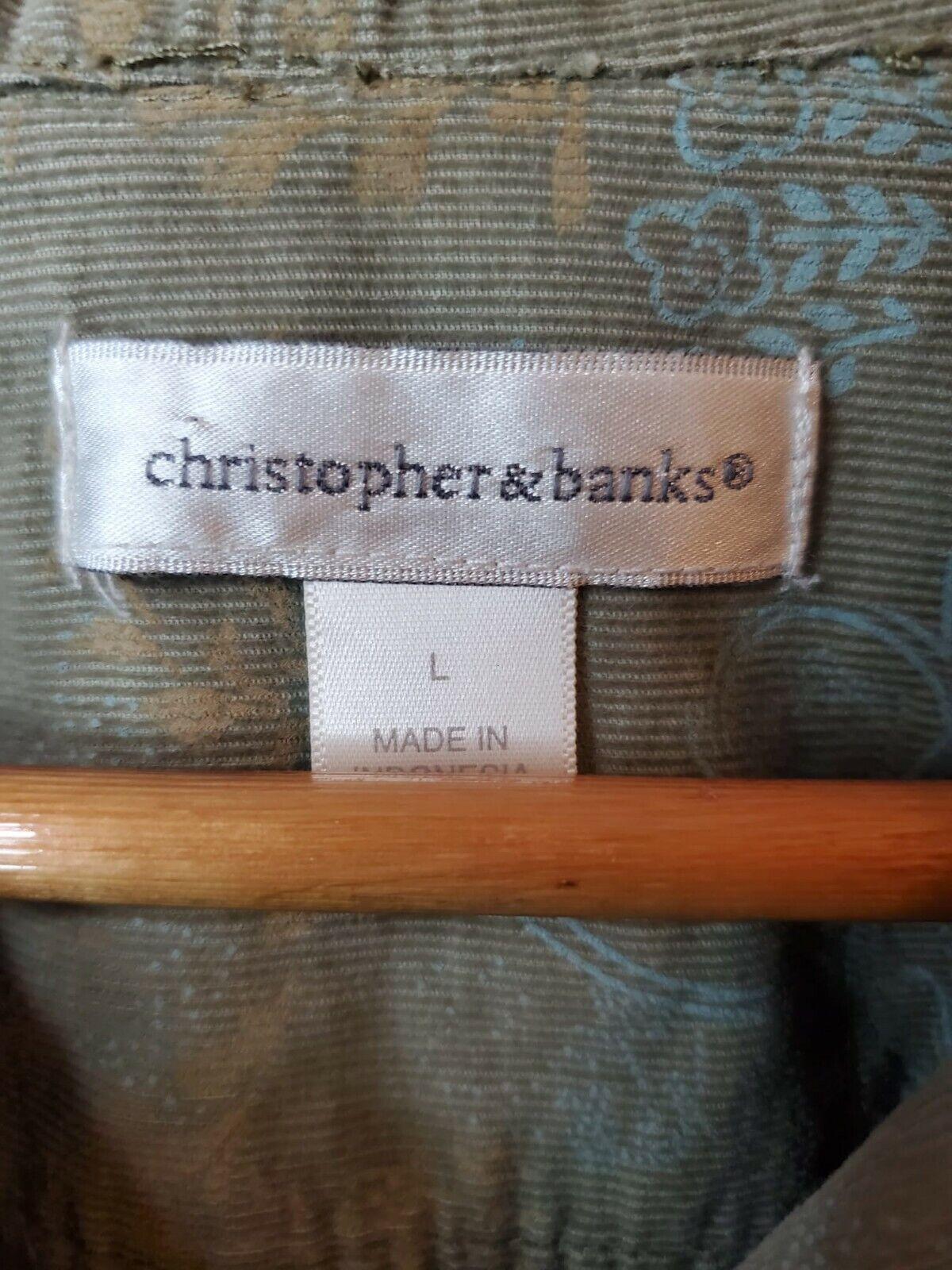 Christopher And Banks Corduroy Jacket Paisleys To… - image 5