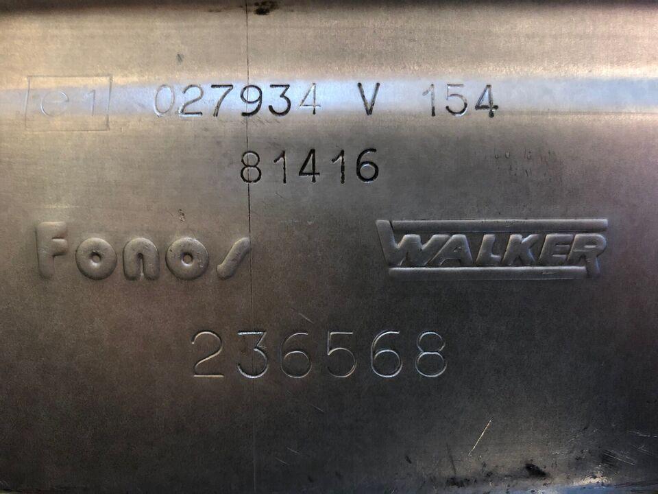 Udstødning, Walker Mellempot, VW Corrado