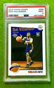 ZION-WILLIAMSON-ROOKIE-CARD-GRADED-PSA-9-MINT-PELICANS-RC-2019-20-Panini-HOOPS