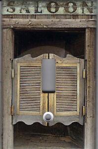 WESTERN SALOON DOORS HOME DECOR SINGLE LIGHT SWITCH PLATE